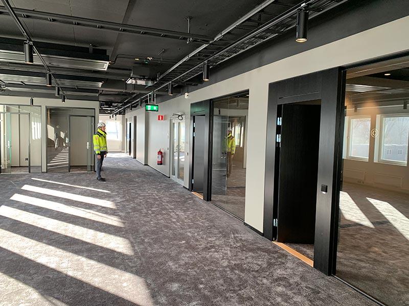 ByggR1 - Umami: Här är ett exempel på färdig kontorslokal.